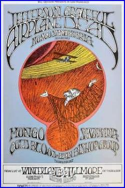 Grateful Dead Concert Poster Randy Tuten Signed San Francisco 1969
