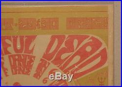 Grateful Dead Dance Straight Theater Aor 2.224 Fillmore Family Dog Era Poster
