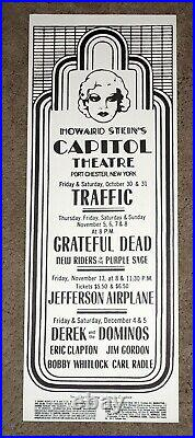 Grateful Dead Derek & the Dominos 1970 Capitol Theater Poster Airplane Traffic
