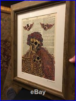 Grateful Dead Dictionary Couple by Emek 2nd Edition Poster Print Fare Thee Well