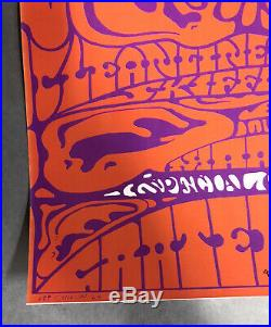 Grateful Dead Earhead Poster AOR 2.329 Lee Conklin SIGNED 2nd Print NM Hot Tuna