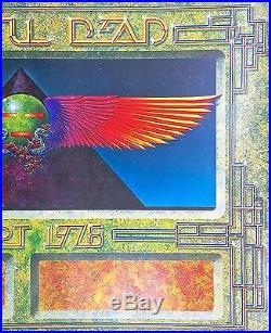 Grateful Dead Egypt 1978 (1978) Original Printers Proof Concert Tour Poster