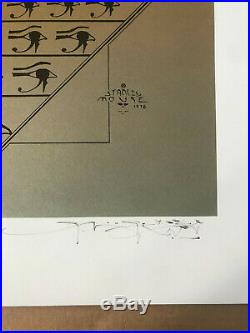 Grateful Dead Egypt 1978 Stanley Mouse Signed No252/350 MINT & OUT OF PRINT