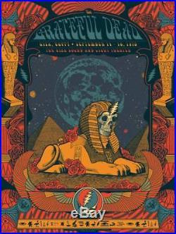 Grateful Dead Egypt Poster 40th Anniversary Justin Helton Dead & Company 10/500