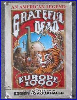 Grateful Dead Essen Germany 1990 Large Concert Poster Rick Griffin Orig Europe