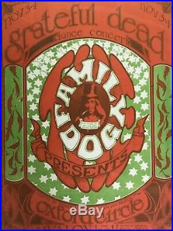 Grateful Dead FD-33 Handbill CGC Graded 9.6 Avalon Stanley Mouse Alton Kelley