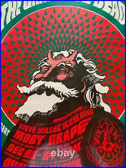 Grateful Dead FD-40 Family Dog Poster 1966 Steve Miller Band with Hippie Santa b