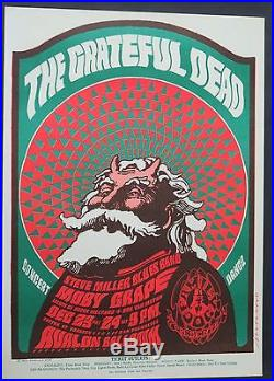 Grateful Dead FD-40 Poster 1966 Avalon Ballroom