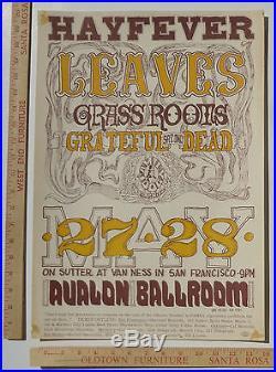 Grateful Dead FD10 Family Dog Concert Poster Avalon Ballroom 1966