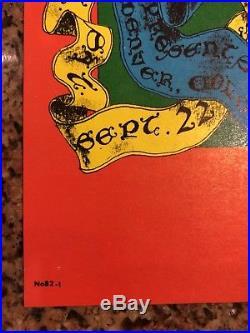 Grateful Dead Family Dog Denver concert poster 1967 1st Printing. Mint