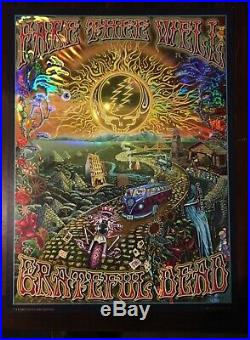 Grateful Dead Fare Thee Well 2015 FOIL Print Poster Mike DuBois Golden Road