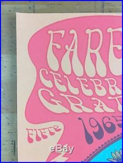 Grateful Dead/Fare Thee Well 2015 Status Serigraph Poster Santa Clara, CA Levi