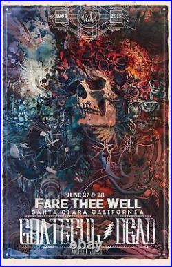 Grateful Dead Fare Thee Well Android Jones Print Poster GD50 Santa Clara Levi's