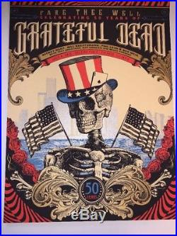 Grateful Dead Fare Thee Well Chicago Posters(3) Justin Helton Rare VIP Only