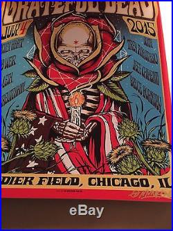 Grateful Dead Fare Thee Well Chicago VIP 3 Poster Set Triptych AP VARIANT prints