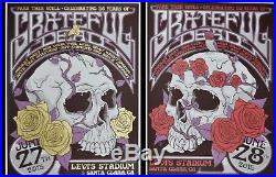 Grateful Dead Fare Thee Well Dead50 VIP Poster Set Santa Clara