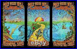 Grateful Dead Fare Thee Well Dubois Foil TRIPTYCH Chicago Poster Phish GD50 2015