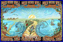 Grateful Dead Fare Thee Well Dubois UNCUT DOODLED Chicago Poster Soldiers Field