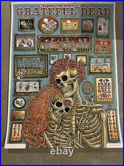 Grateful Dead Fare Thee Well Emek VIP Poster