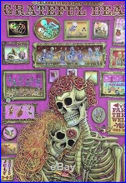 Grateful Dead Fare Thee Well Foil Variant Poster By EMEK