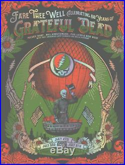 Grateful Dead Fare Thee Well Helton Print Poster GD50 Balloon Foil Chicago IL