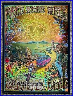 Grateful Dead Fare Thee Well Original Holographic Foil Dubois Signed Golden Road