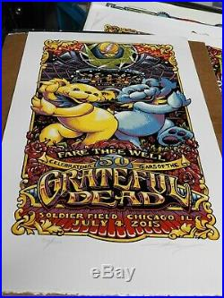 Grateful Dead Fare Thee Well Poster