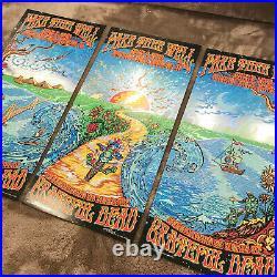 Grateful Dead Fare Thee Well Poster Lava FOIL (3 PARTS) M. DuBois (AE)