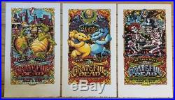 Grateful Dead Fare Thee Well Poster Prints Set (3) Chicago 2015 AJ Masthay
