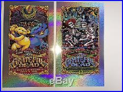 Grateful Dead Fare Thee Well Poster Set (3) Chicago 15 AJ Masthay Sparkle Foil
