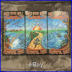 Grateful Dead Fare Thee Well Poster on Holographic Foil (3 PARTS) DuBois (AE)