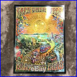 Grateful Dead Fare Thee Well Poster on Holographic Foil Paper M. DuBois (AE)