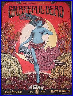 Grateful Dead Fare Thee Well Santa Clara Print Poster Richey Beckett 2015 GD50