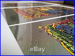 Grateful Dead Fare Thee Well Sparkle Foil Poster Set (3) Chicago 15 S/N Masthay