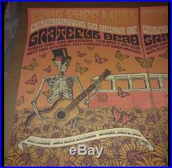 Grateful Dead Fare Thee Well VIP Poster Set Justin Helton VW Santa Clara GD50