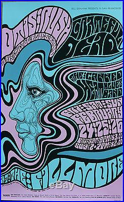 Grateful Dead Fillmore Auditorium Wee Wilson Rare Concert Poster