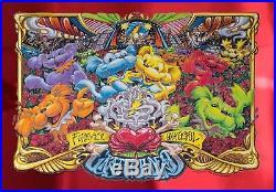 Grateful Dead Forever Grateful RED MIRROR FOIL AJ Masthay Poster Print Art