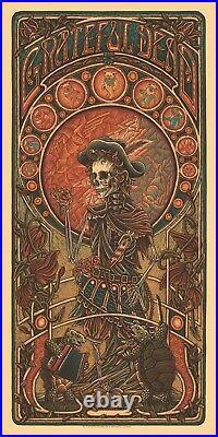 Grateful Dead GD2 Jack Straw Timed Edition Poster by Luke Martin PRESALE