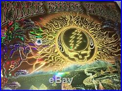 Grateful Dead GD50 Fare Thee Well Mike Dubois Foil Hologram Golden Road Poster