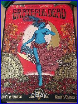 Grateful Dead GD50 Fare Thee Well Santa Clara Poster Richey Beckett