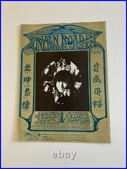 Grateful Dead Golden Road To Unlimited Devotion Original Concert Handbill 1967