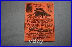 Grateful Dead Handbill At The Bank in San Diego on Oct. 18 1968 5 5/8 x 7 3/4