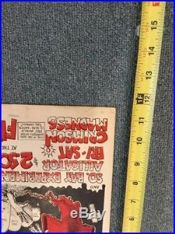 Grateful Dead Handbill Fillmore West 1969 Crimson Madness Rare Poster Alligator