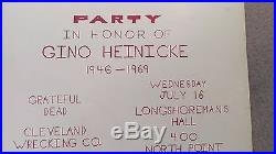 Grateful Dead Hells Angels 1969 Longshoremans Hall Party Hippie Concert Poster