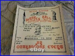 Grateful Dead Hells Angels Jerry Garcia Bo Diddley First Print Concert Poster