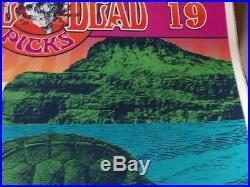 Grateful Dead Helton poster V. 19 Dicks Picks Honolulu signed 23/50 Garcia Weir