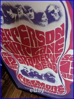 Grateful Dead Jefferson Airplane 1966 Wes Wilson Fillmore Poster Framed