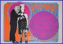 Grateful Dead Jefferson Airplane Busted Rock Concert Poster By Stanley Mouse