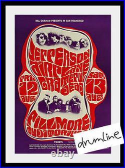 Grateful Dead- Jefferson Airplane Concert Poster 1966 Ca Signe Anderson Rare