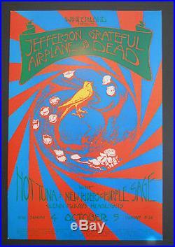 Grateful Dead/Jefferson Airplane poster BG, FD, AOR
